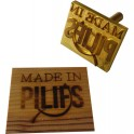 Brass block for hot stamp on wood 70x40 mm with logo