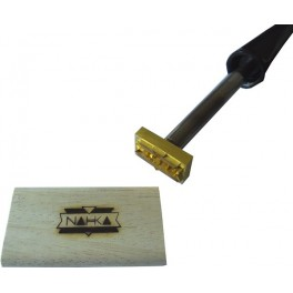 Hot stamp for wood with logo 35 mm x 20 mm