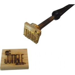 Custom branding iron for wood with logo 45mm x 40mm