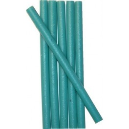 6 TURQUOISE BLUE wax sticks