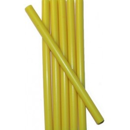 6 YELLOW wax sticks