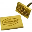 Brass block only for hot stamp on wood 50x35 mm with logo