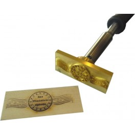 Hot stamp for wood with logo 90 mm x 40 mm