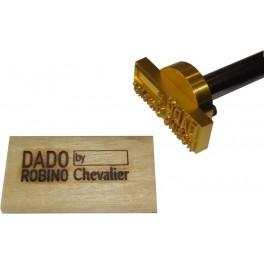 Marque à chaud pour le bois avec logo 60 mm x 20 mm