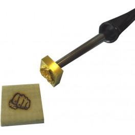 Marque à chaud pour le bois avec logo 25 mm x 25 mm