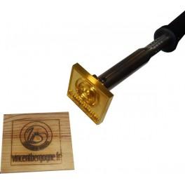 Marque à chaud pour le bois avec logo 60 mm x 60 mm