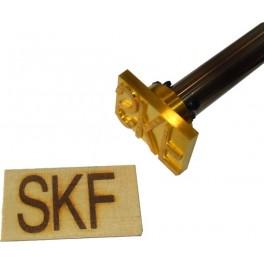 Marque à chaud pour le bois 1 à 6 lignes 60 x 40 mm