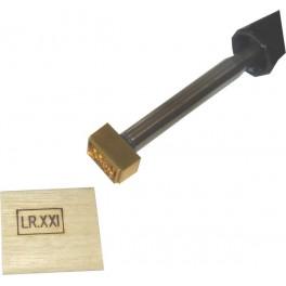 Marque à chaud pour le bois avec logo 25 mm x 15 mm