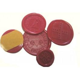 Set of 25 Adhesive wax seals Diameter 25 mm