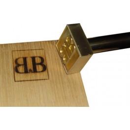 Marque à chaud pour le bois avec logo 30 mm x 30 mm