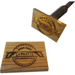 Hot stamp for wood with logo 90 mm x 60 mm