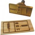 Bloc pour marque à chaud pour le bois norme NIMP 90 mm x 40 mm