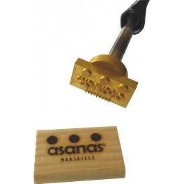 Marque à chaud pour le bois avec logo 55 mm x 25 mm