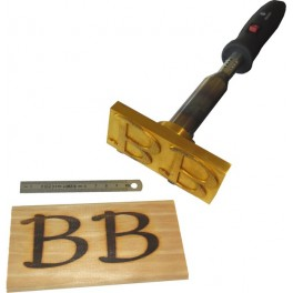 Hot brand for wood with logo 120 mm x 50 mm