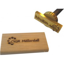 Marque à chaud pour le bois avec logo 70 mm x 20 mm