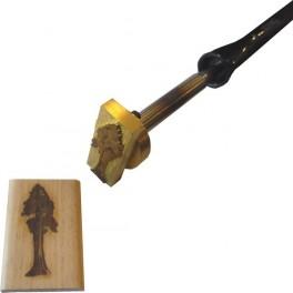 Marque à chaud pour le bois avec logo 60 mm x 25 mm