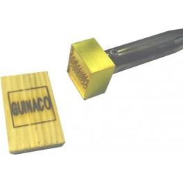 Marque à chaud pour le bois avec texte 30 mm x 30 mm