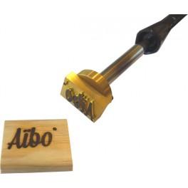 Marque à chaud pour le bois avec logo 40 mm x 25 mm