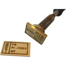 Marque à chaud pour le bois norme NIMP 70 mm x 40 mm
