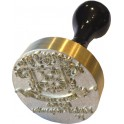 Stamp brass relief 50 mm diameter ex-libris