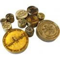 Plaque seule ronde pour presse à chaud cuir ou bois dimensions du marquage à choisir