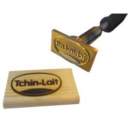Marque à chaud pour le bois avec logo 100 mm x 50 mm