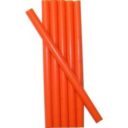 6 ORANGE wax sticks