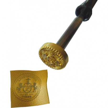 logo sur cuir par brulage