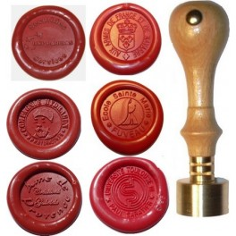 Wax sealing stamper for corporate business with logo 25 mm