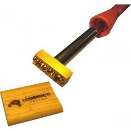 Marque à chaud pour le bois avec logo 40 mm x 15 mm