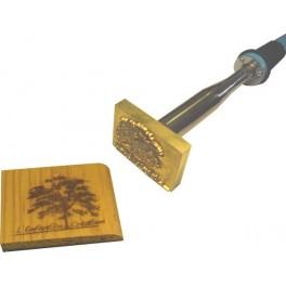 Marque à chaud pour le bois avec logo 60 mm x 40 mm