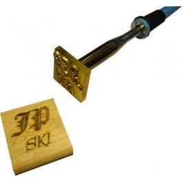 Marque à chaud pour le bois avec logo 50 mm x 50 mm