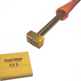 Hot brand for wood with logo 30 mm x 20 mm
