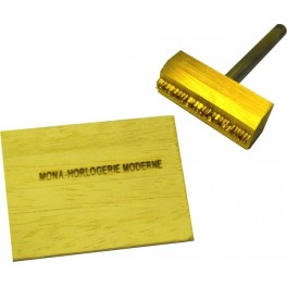 Hot brand for wood with text 40 mm x 15 mm