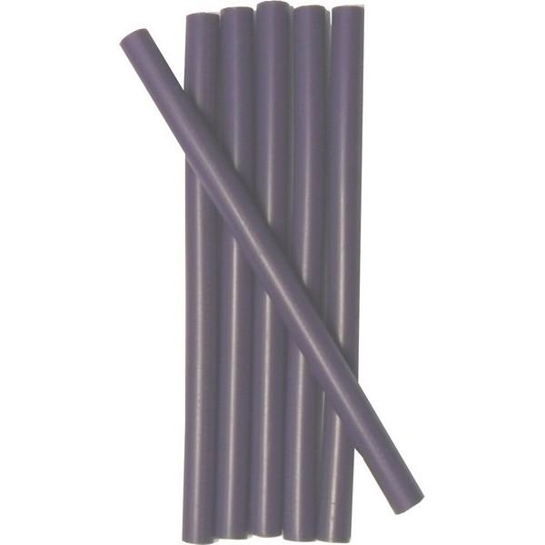 Cire cacheter couleur aubergine en petits batons paquet de 6 - Baton de cire pour meuble ...