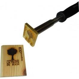 Marque à chaud pour le bois avec logo 60 mm x 50 mm