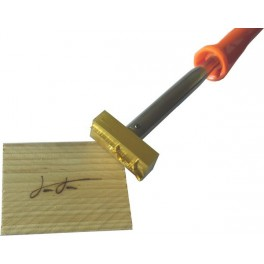 Hot brand for wood with logo 50 mm x 20 mm