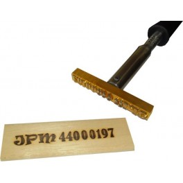 Hot brand for wood with logo 120 mm x 15 mm
