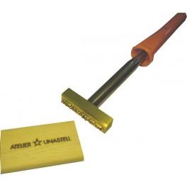 Marque à chaud pour le bois avec logo 60 mm x 15 mm