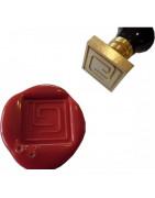 Sceaux carrés, tampons pour cachets de cire