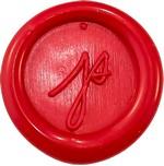 initiales sur cachet de cire